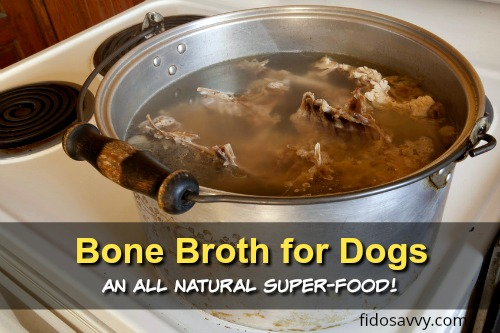 Making bone broth for dogs