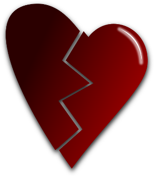 Heart which is damaged