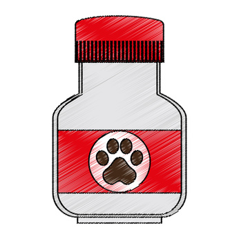 Image of bottle containing supplement for dogs