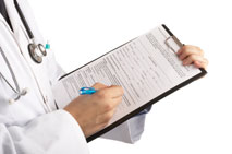 Veterinarian with clipboard